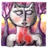 Marion Lucka: Katze, Tusche (2010)