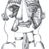 Marion Lucka: Bleistift, Katze (2007)