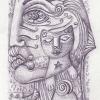 """Marion Lucka: Bleistiftzeichnung """" Maitag"""" 10 x 15 cm (9. Mai 2018)"""