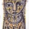 Marion Lucka: Novemberkreuzkatze, Bunt/Bleistiftzeichnung (2015)