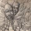 Marion Lucka: Paradies, Bleistift, 30 x 40 cm (1981)