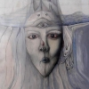 """Marion Lucka: Selbst"""", Mischtechnik 30 x 40 cm (1985)"""