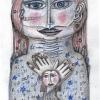 Marion Lucka: Sonntagsengel, Buntstift (2015)