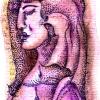 Marion Lucka: Traenen in Braun, 7 x 9 cm (2013)