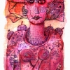 Marion Lucka: Zustand im Juni, 10 x 12 cm (2008)