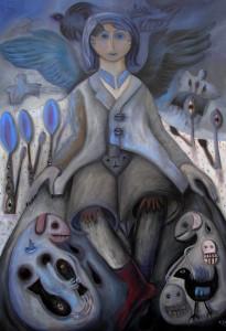 "Marion Lucka: Ölgemälde "" Rauhnachtsengel, 70 x 100 cm (1. Januar 2016)"